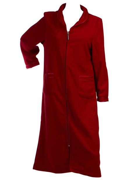 robe chambre polaire femme slenderella femmes anti pilule fermeture éclair robe de
