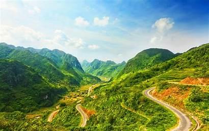 Vietnam Mountain Landscape Background Wallpapers