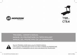 Horizon Fitness T101 Owner U0026 39 S Manual