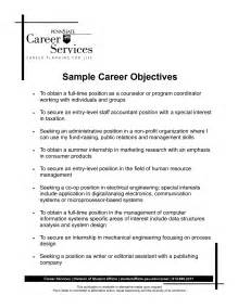 resume objective sentences exles sle career objective statements some potition ofgallery of resume career objective exles