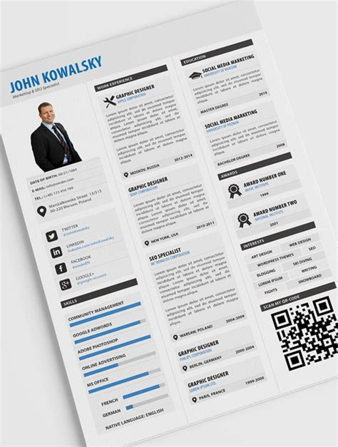 design eye catching resume cv for you fiverr