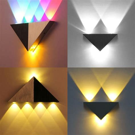 modern 3w 5w wall light up led sconce lighting l fixture indoor outdoor ebay