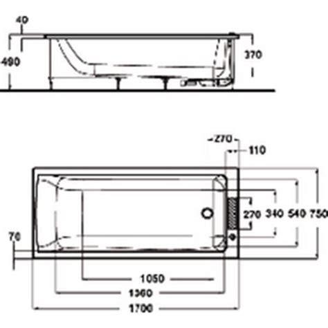 ideal standard baignoire connect 170x75cm en acrylique 224