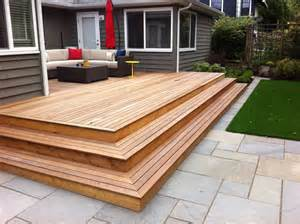 Wood Deck with Patio Stone