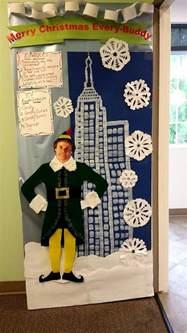 elf movie door decoration craft ideas pinterest elf