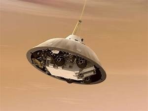 NASA - Curiosity While on Parachute, Artist's Concept