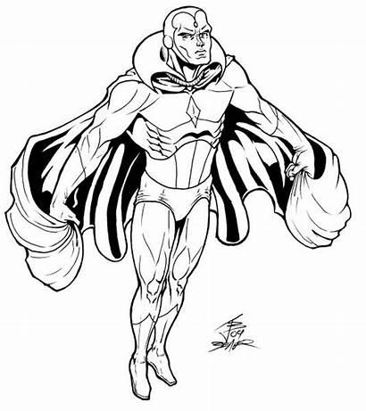 Marvel Coloring Avengers Pages Vision Superhero Avenger