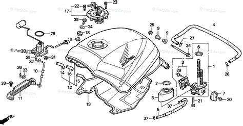 Honda Motorcycle Oem Parts Diagram For Fuel Tank