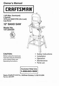 Craftsman 137 224320 User Manual