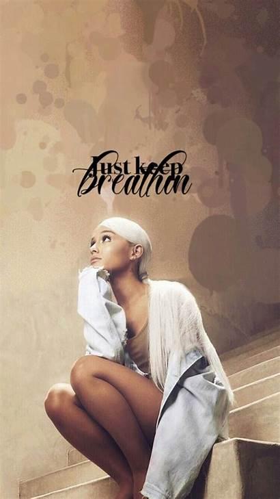 Ariana Grande Sweetener Aesthetic Quotes Breathin Keep