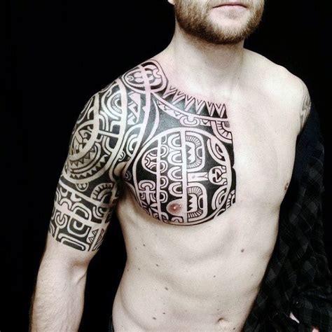 sleeve tribal tattoos  men masculine design ideas