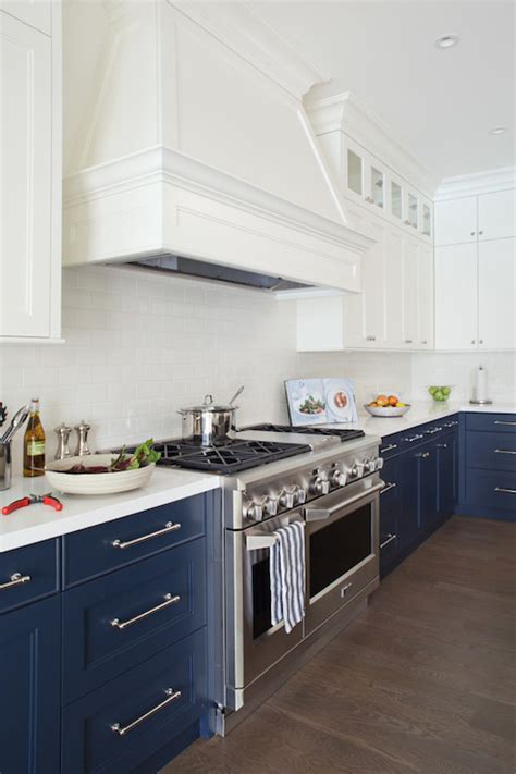blue kitchens with white cabinets navy cabinets contemporary kitchen desk 7943