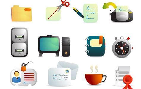 probleme icone bureau fournitures de bureau vecteur icônes télécharger