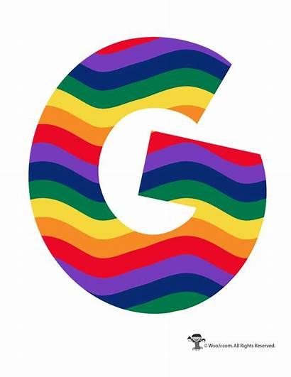 Rainbow Letters Letter Alphabet Bubble Printable Woojr