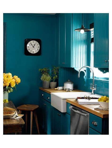 peinture cuisine bleu cuisine bleu 25 idées déco cuisine bleue