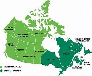 Mapa De Canada Este