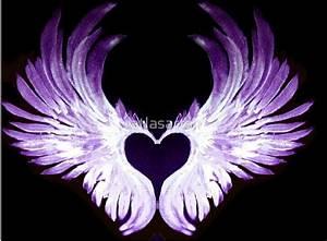 """""""Purple Angel heart wings 2"""" Art Prints by atlasartsn ..."""