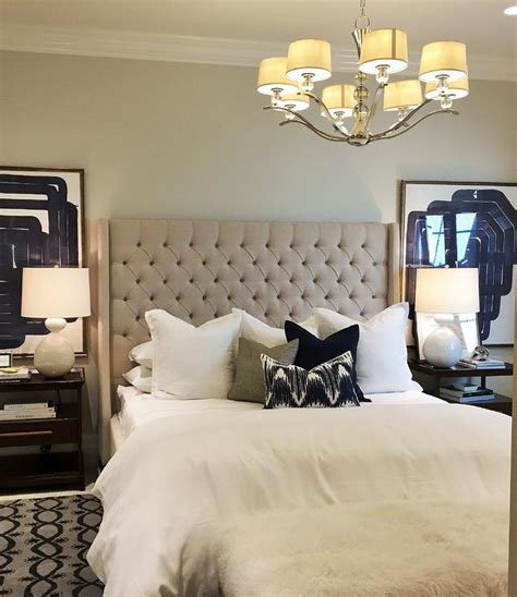 Bed With White Nightstands by Beige Tufted Wingback Bed With Tiered Nightstands