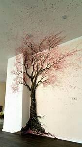 Baum An Wand Malen : die besten 25 wandmalerei ideen auf pinterest feder und tintenillustrationen wandmalerei ~ Frokenaadalensverden.com Haus und Dekorationen