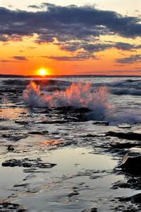 Ocean Waves Sunset