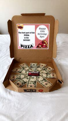 heres  dough pizza box money gift birthday gifts