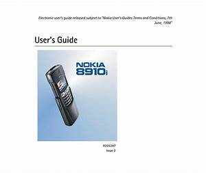 Nokia 8910i User Manual Pdf Download