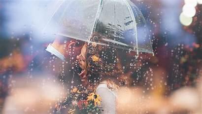 Romantic Couple Umbrella Wallpapers Raining Married Weeding