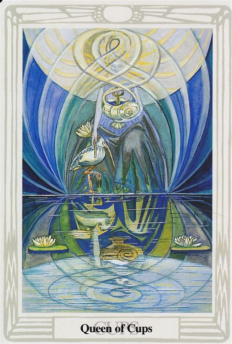queen  cups thoth tarot card tutorial esoteric meanings