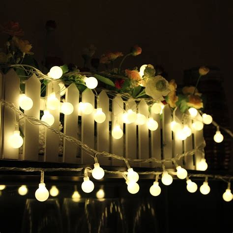white christmas lights amazon amazon com innoo tech 100 led globe string lights warm