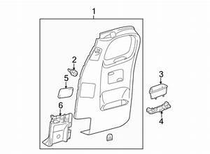 Toyota Tacoma Door Interior Trim Panel  Access Cab  Gray  Right  Rear  Body
