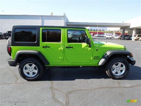 jeep unlimited green 2013 gecko green pearl jeep wrangler unlimited sport s 4x4