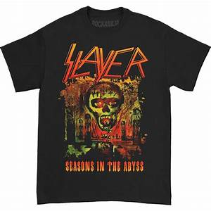 Rockabilia Size Chart Slayer Seasons In The Abyss T Shirt Rockabilia Merch Store