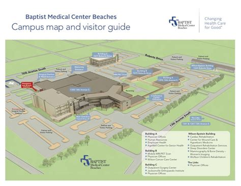 Health insurance plans contain exclusions. Parking and Campus Map | Baptist Medical Center Beaches | Florida
