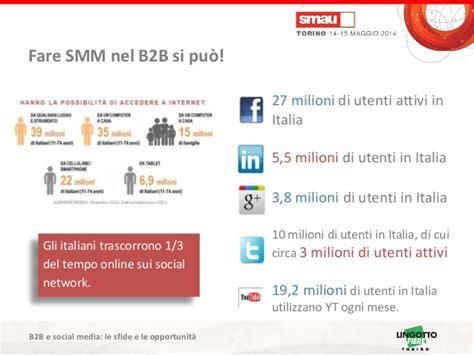 transfert si鑒e social association smau torino 2014 i social media stanno conquistando il mercato b2b