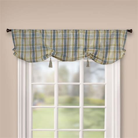plaid window valance sears