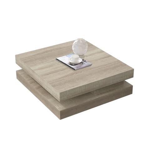 table basse bois carre table basse carr 233 amovible coloris bois sonoma clair achat vente table basse table basse