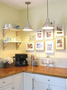 Painted kitchen cabinet ideas hgtv for Kitchen colors with white cabinets with guitar canvas wall art