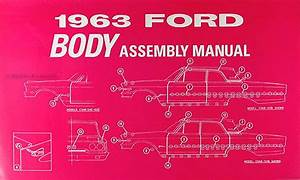 1963 Ford Galaxie Wiring Diagram Manual Reprint