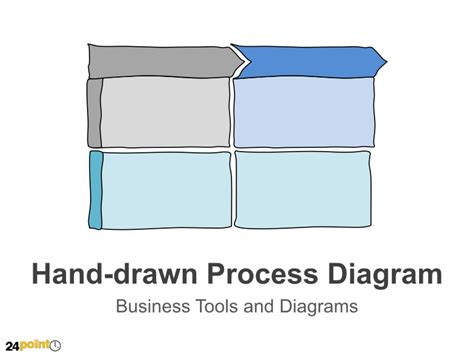 hand drawn process diagram editable powerpoint illustration