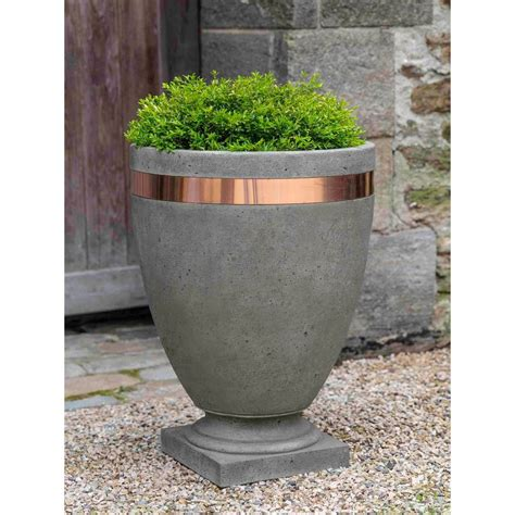 Copper Outdoor Planters by Moderne Copper Cast Urn Planters Kinsey