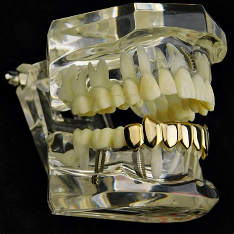 grillz fang gold tooth bottom pre