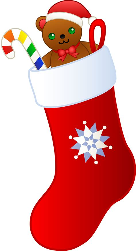 christmas stocking  toys clipart clipground