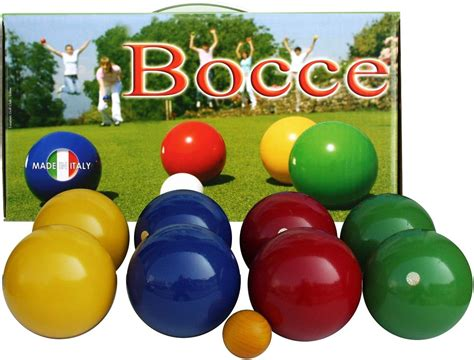 metal glass end table boccia set made in italy 100 mm boule boccia boccia