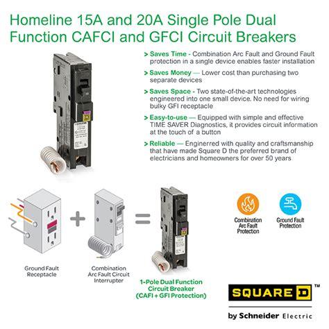 Square Homeline Amp Single Pole Dual Function Cafci
