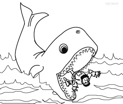 printable jonah   whale coloring pages  kids