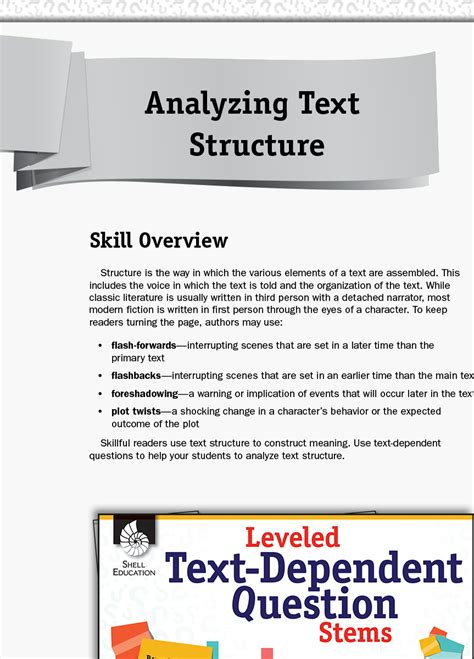 leveled text dependent question stems analyzing text
