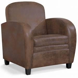 Fauteuil Cuir Marron Vintage : fauteuil club en simili cuir marron vintage tooshopping ~ Teatrodelosmanantiales.com Idées de Décoration
