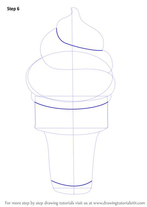 learn   draw ice cream cone ice creams step  step