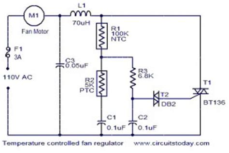 12 Volt Deer Feeder Wiring Diagram by Bt136 Temperature Controlled Fan Regulator Circuit Diagram