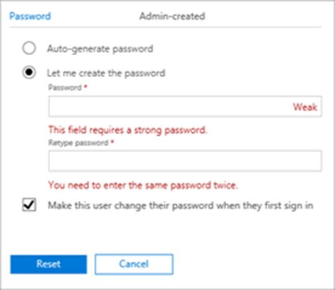 Office 365 Mail Change Password by Admins Reset Office 365 Business Passwords Office 365